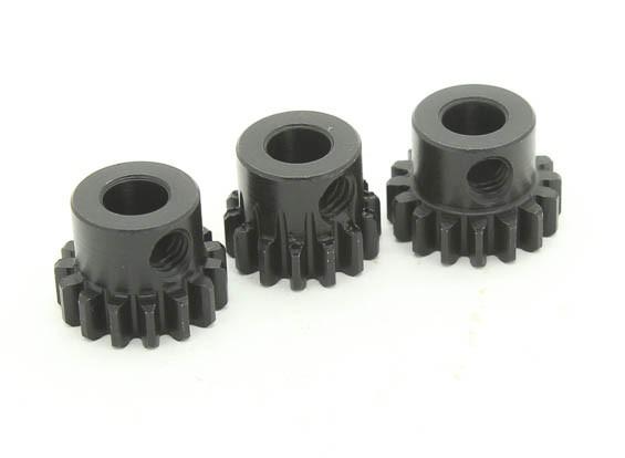 Hardened Steel Pinion Gear Set 32P Ajuster Shaft 5mm (14/15 / 16T)
