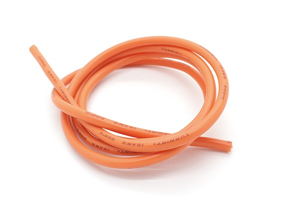 Turnigy Pure-silicone Fil 12AWG 1m (Orange)