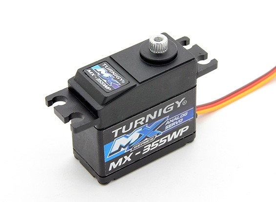 Turnigy ™ MX-355WP étanche BB / AS / MG Servo 12 kg / 0.14sec / 42g