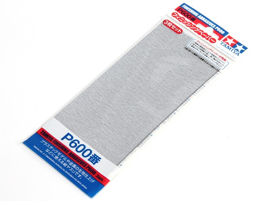 Tamiya Finition Wet / Dry Sandpaper P600 grade (3pc)