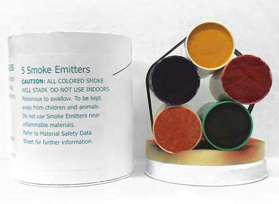 4 Minute couleurs assorties Cartouches de fumée (5pcs)