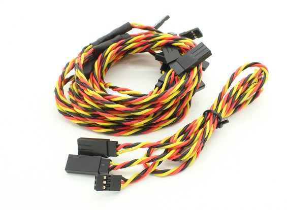60cm Twisted Leads Y Servo (JR) 24AWG (5pc)
