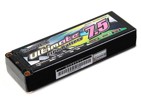 Turnigy nano-tech ultime 7500mah 2S2P 90C Hardcase Lipo Pack (ROAR & BRCA Approuvé)