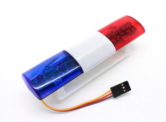 Voiture de police LED Système d'éclairage Ovale Style (Bleu / Rouge)