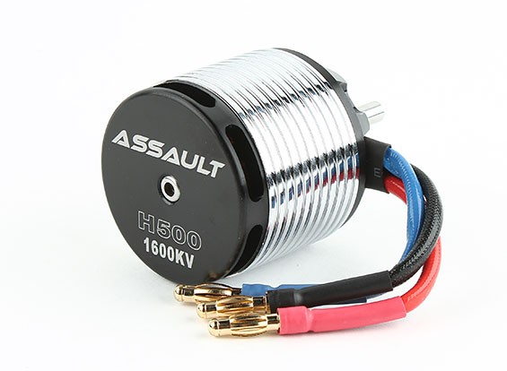 Assault 500 Series 1600KV Brushless Outrunner Motor Helicopter