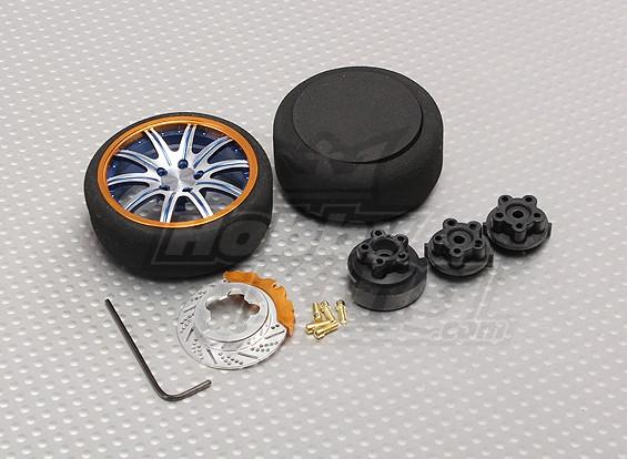 Émetteur pistolet en alliage Turning Wheel 10 Spoke (bleu)