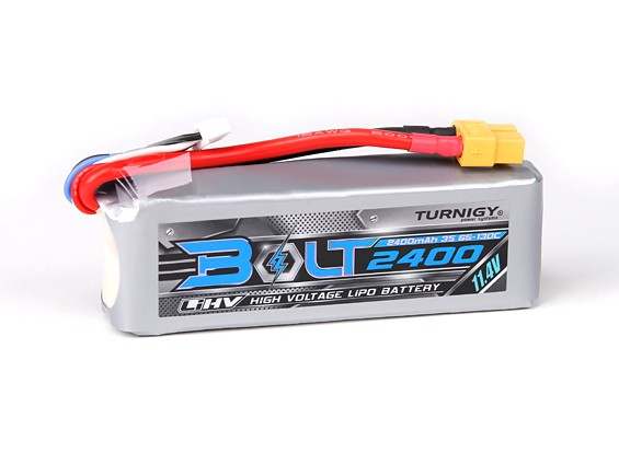 Turnigy Bolt 2400mAh 3S 11.4V 65 ~ 130C High Voltage Lipoly pack