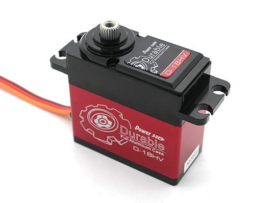 Puissance HD Durable D-18HV High Voltage voiture numérique Servo w / alliage de titane Gears 18 kg / 75g / .10sec
