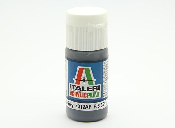 Italeri Peinture acrylique - Plat Extra noir Mer Gris