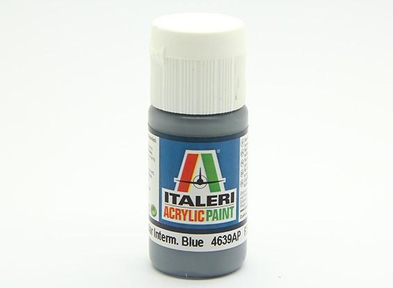 Italeri Peinture acrylique - plat non spéculaire Intermed Bleu