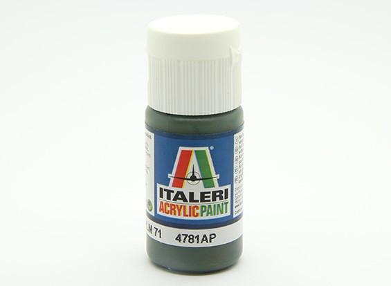 Italeri Peinture acrylique - Dunkelgrün RLM 71