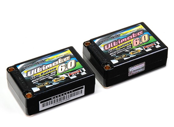 Turnigy nano-tech ultime 6000mAh 2S3P 90C Hardcase Lipo Saddle Pack (ROAR & BRCA Approuvé)