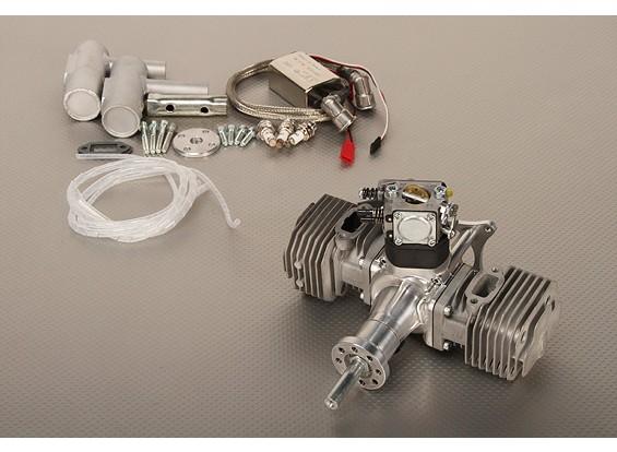 Moteur 5.5HP 53cc bicylindre gaz