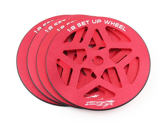 TrackStar 1/8 Scale Set-up Set Wheel (4pcs)