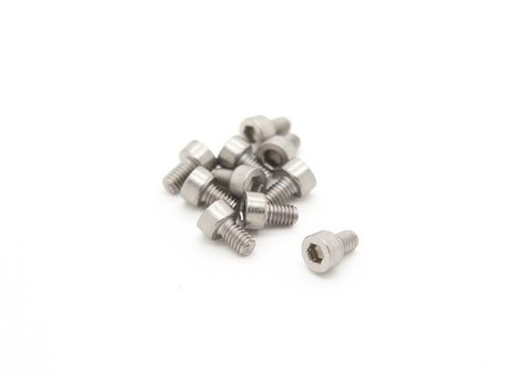 Titanium M2.5 x 4 Vis à tête creuse hexagonale (10pcs / bag)