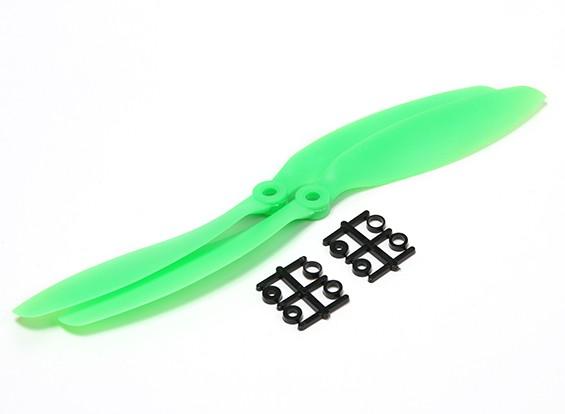 HobbyKing ™ Hélice 9x4.7 Green (CCW) (2pcs)