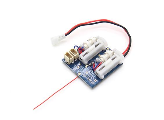2.4Ghz Systems SuperMicro - DSM2 Récepteur Compatible w / Brushed ESC, servos linéaire