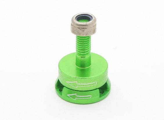 CNC en aluminium M6 Quick Release auto-serrage Prop adaptateurs Set - Green (antihoraire)