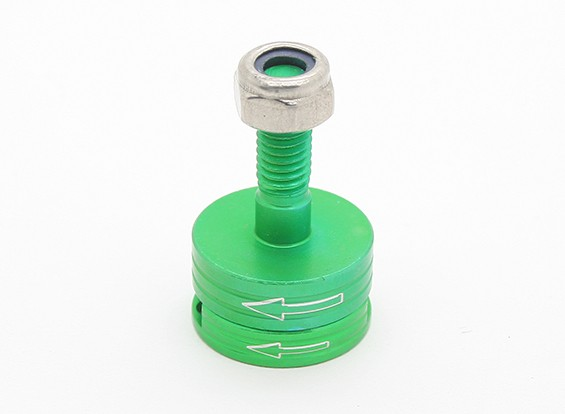 CNC en aluminium M6 Quick Release auto-serrage Prop Adapter Set - Green (sens anti-horaire)