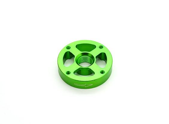 CNC en aluminium M10 Quick Release auto-serrage Prop Adapter - Green (Prop Side) (antihoraire)