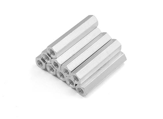 En aluminium léger Hex Section Spacer M3 x 24mm (10pcs / set)