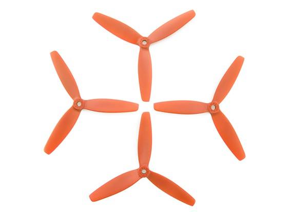5x4inches 3 lames orange
