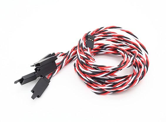 Twisted 60cm Servo Extention Lead (Futaba) avec crochet 22AWG (5pcs / bag)