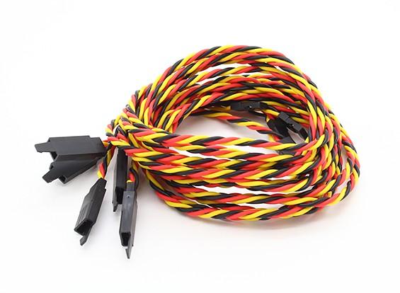 Twisted 80cm Servo Extention Lead (JR) avec crochet 22AWG (5pcs / bag)