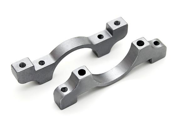 Titanium Couleur anodisé CNC en aluminium Tube Clamp 20mm Diamètre