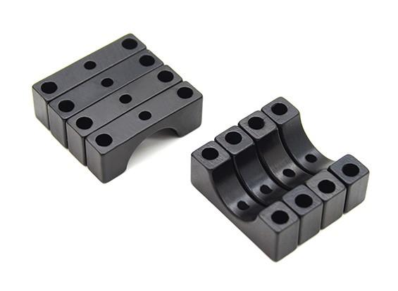 Noir anodisé CNC 4.5mm Aluminium Tube Clamp 10mm Diamètre