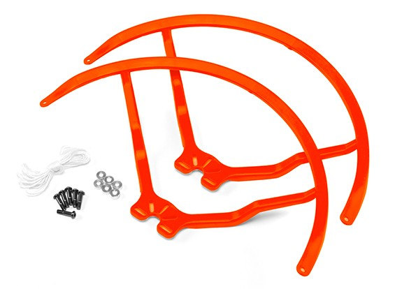 8 pouces en plastique Universal Multi-Rotor Hélice Garde - Orange (2set)