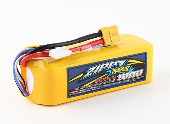 ZIPPY Compact 1800mAh 6s 40c Lipo Paquet
