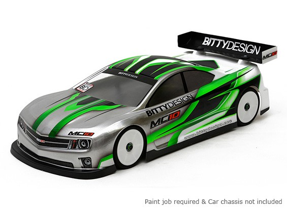 Bittydesign MC10 190mm 1/10 Touring Car Body Racing (RAAR approuvé)