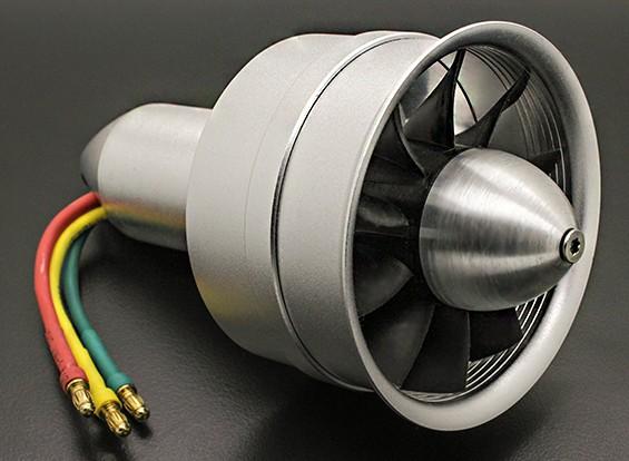 Alliage DPS 64mm 10 lame électrique Ducted Fan Assembley 3300KV