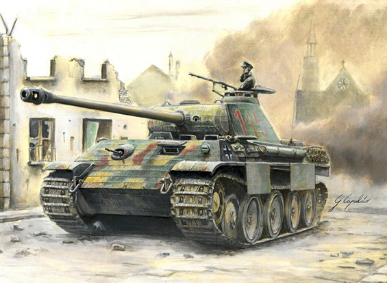 Italeri 1/56 Kit Echelle allemande Sd.Kfz.171 Panther Ausf.A Plastic Model