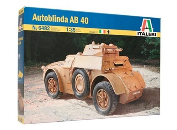 Kit Italeri 1/35 Échelle AB 40 Autoblinda Plastic Model