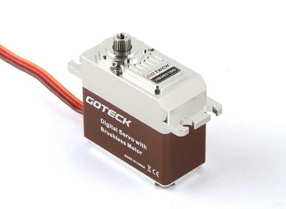 Goteck HB2621S HV numérique Brushless MG Métal Cased High Torque Servo 19 kg / 0.07sec / 77g