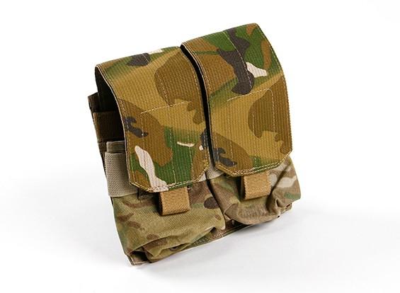 SWAT Cordura M4 Molle Double Maggazine Pouch (Multicam)