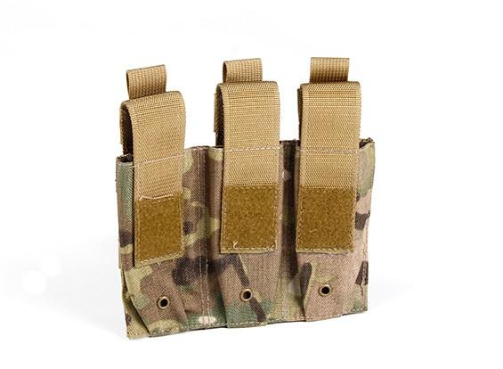 SWAT 500D Nylon Molle Handgun Triple Mag Pouch (Multicam)