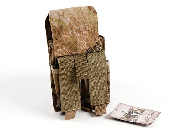 Pochette SWAT Molle Double Stack Mag M4 / Pistolet (Kryptek Highlander)