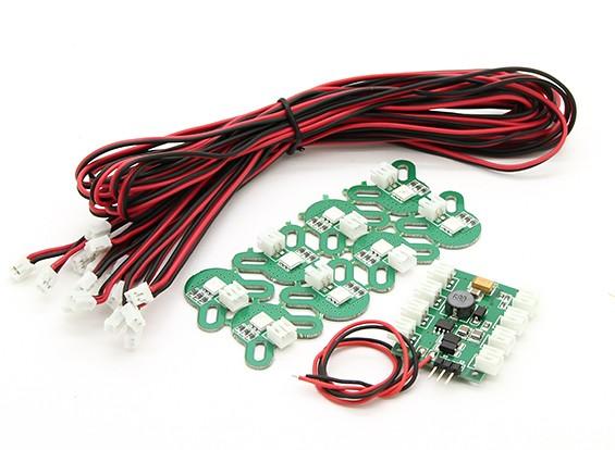 X-Cam Multi-Rotor LED Set Navigation avec alarme de basse tension et de contrôle RC
