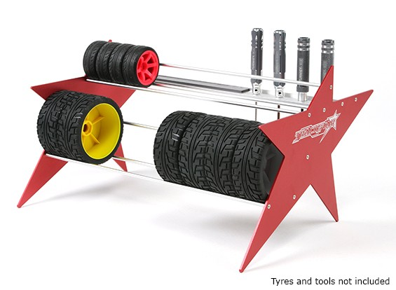 TrackStar 1/10 et 1/8 Tire Rack