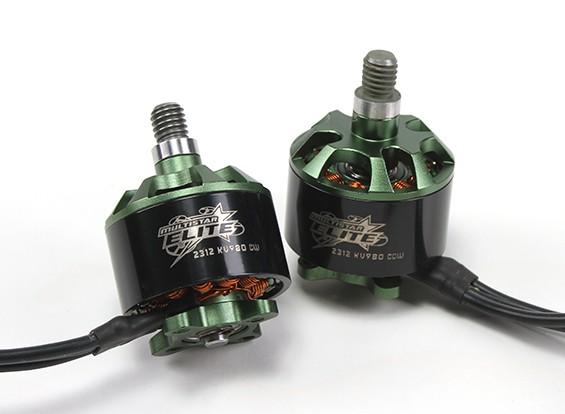 Multistar Elite 2312 980KV Motor Set CW / CCW EZO Roulements, 4mm arbre principal, N45SH Magnets (2 moteurs)