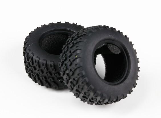 H-King Sand Storm 1/12 2WD Desert Buggy - Tire set w / insert de mousse (2pcs)