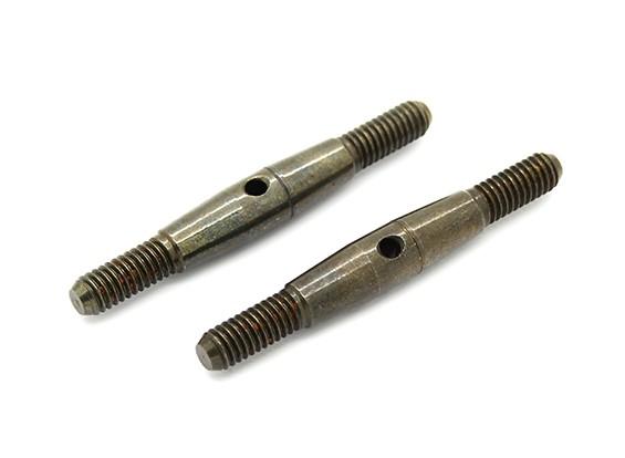 TrackStar 1/8 Spring Steel Turnbuckle M4x40 (2pcs)