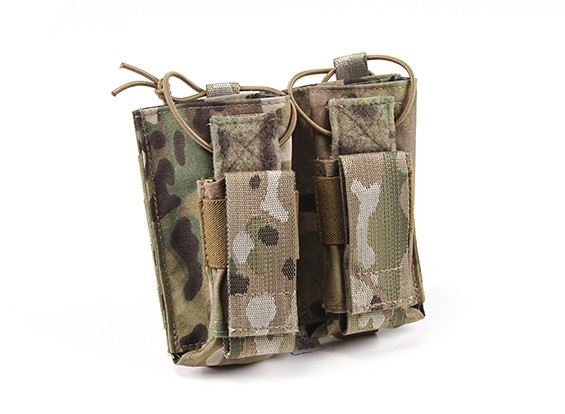 Grey Ghost Engrenage Double AK et Pistol Magazine Pouch (Multicam)