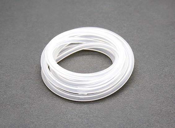tuyau de carburant de silicium (1 mtr) Blanc Nitro Moteurs 4x2.5mm