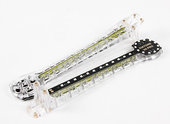 Upswept LED de mise à niveau des armes pour V500 / H550 et DJI Flamewheel Multirotors (Vert) (2pcs)