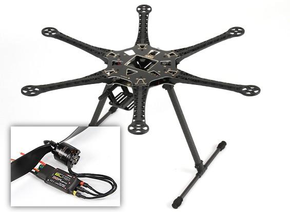 HobbyKing ™ S550 Hexcopter Combo (Frame, de l'ESC et Motors) (ARF)