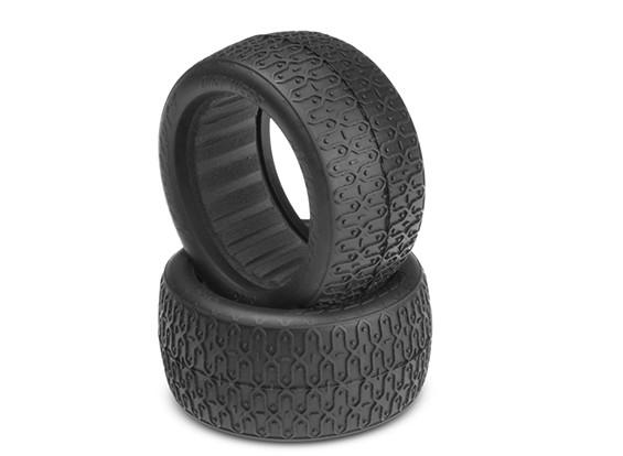 JConcepts Dirt Webs 1 / 10e 4WD Buggy Tires 60mm arrière - Vert (Super Soft) composé